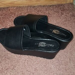 Rue21 Shoes - black wedge sandals